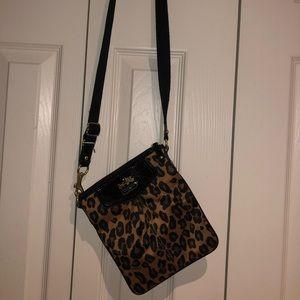 Coach cheetah print crossbody bag